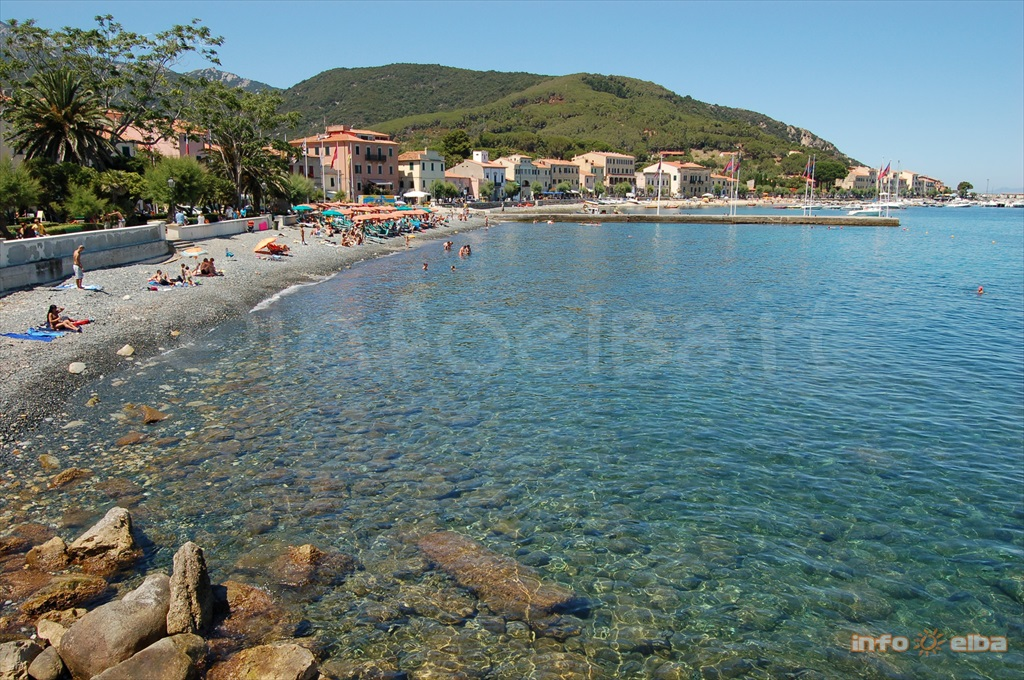 Marciana Marina beach on the Island of Elba
