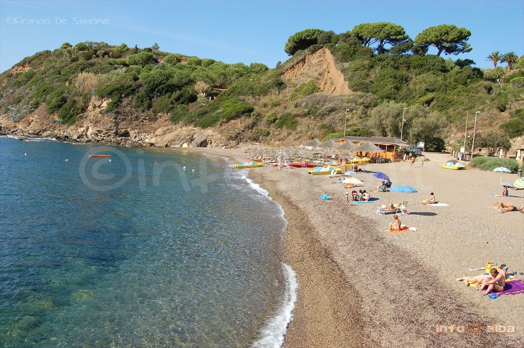 Reale beach in Porto Azzurro on the Island of Elba