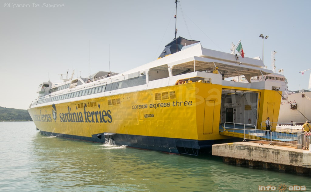 the new hsc corsica express three ferry to and from the island of elba. Black Bedroom Furniture Sets. Home Design Ideas